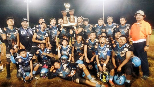 The Matua Division Angels capped their undefeated season with a 20-16 come-from-behind victory over the Tamuning Steelers in the  Guam National Youth Football Federation championship game.