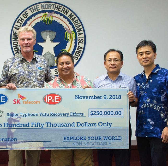 Citadel, SK Telecom, IT&E and IP&E donate $250K to CNMI Super Typhoon Yutu relief