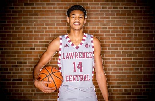 2018 IndyStar boys basketball Super Team member, D'Andre Davis from Lawrence Central.