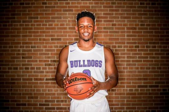 2018 IndyStar boys basketball Super Team member, Cam Alford from Brownsburg.