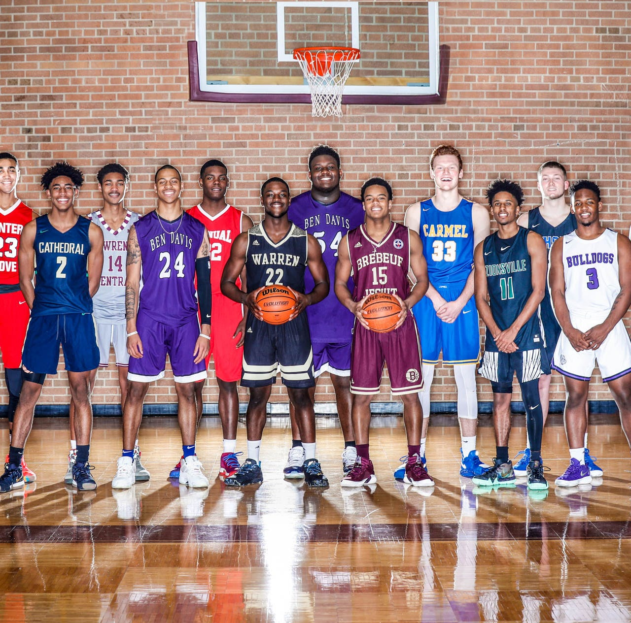 See which ballers made the preseason ALL-USA Central Indiana boys basketball team
