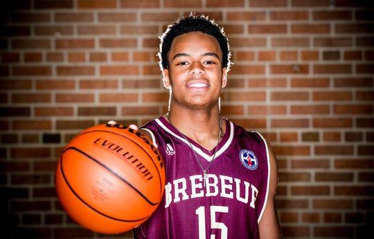 2018 IndyStar boys basketball Super Team member, Simon Banks from Brebeuf Jesuit.