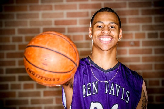 Meet 2018 IndyStar boys basketball Super Team member, Jalen Windham, (24), from Ben Davis High School, shown here at Brebeuf, on Wednesday, Nov. 7, 2018.
