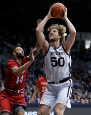 Butler forward Joey Brunk (50) is off to a hot start.