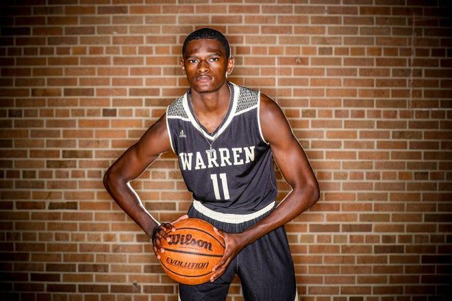 2018 IndyStar boys basketball Super Team member, Jesse Bingham from Warren Central.