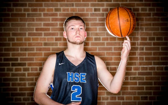2018 IndyStar boys basketball Super Team member, Aaron Etherington from Hamilton Southeastern.