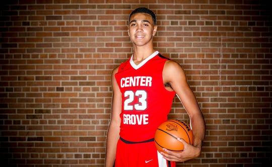 2018 IndyStar boys basketball Super Team member, Trayce Jackson-Davis of Center Grove.