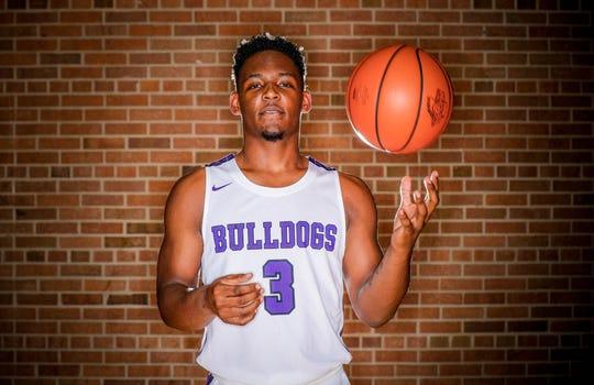 Meet 2018 IndyStar boys basketball Super Team member, Cam Alford, (3), from Brownsburg High School, shown here at Brebeuf Jesuit Preparatory School, on Wednesday, Nov. 7, 2018.