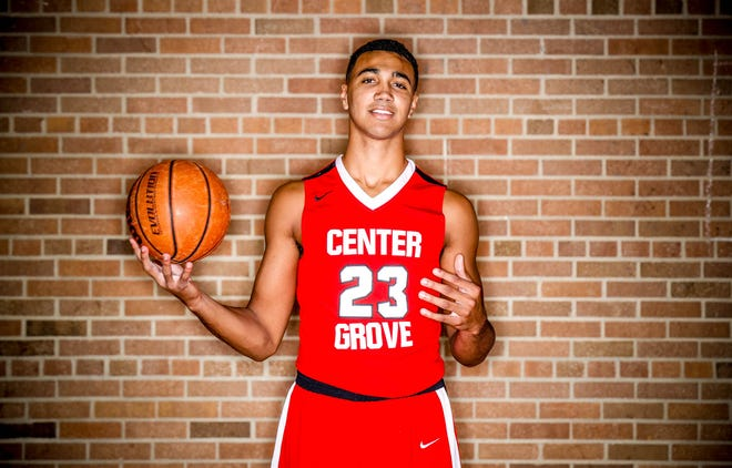 Meet 2018 IndyStar boys basketball Super Team member, Trayce Jackson-Davis, (23), Center Grove High School , shown here at Brebeuf Jesuit Preparatory School, on Wednesday, Nov. 7, 2018.