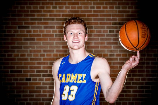 2018 IndyStar boys basketball Super Team member, John-Michael Mulloy from Carmel.
