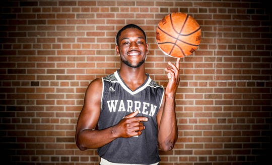 2018 IndyStar boys basketball Super Team member, David Bell, from Warren Central.