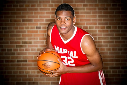 2018 IndyStar boys basketball Super Team member, Jalen Johnson from Manual.