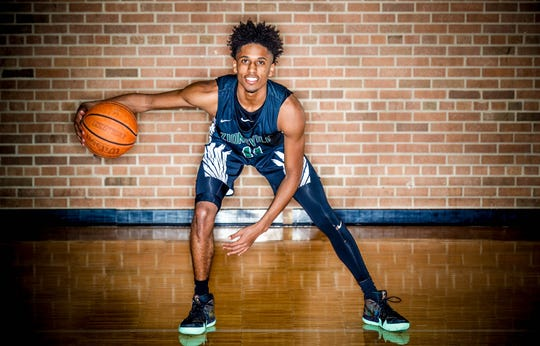 2018 IndyStar boys basketball Super Team member, Isaiah Thompson from Zionsville.