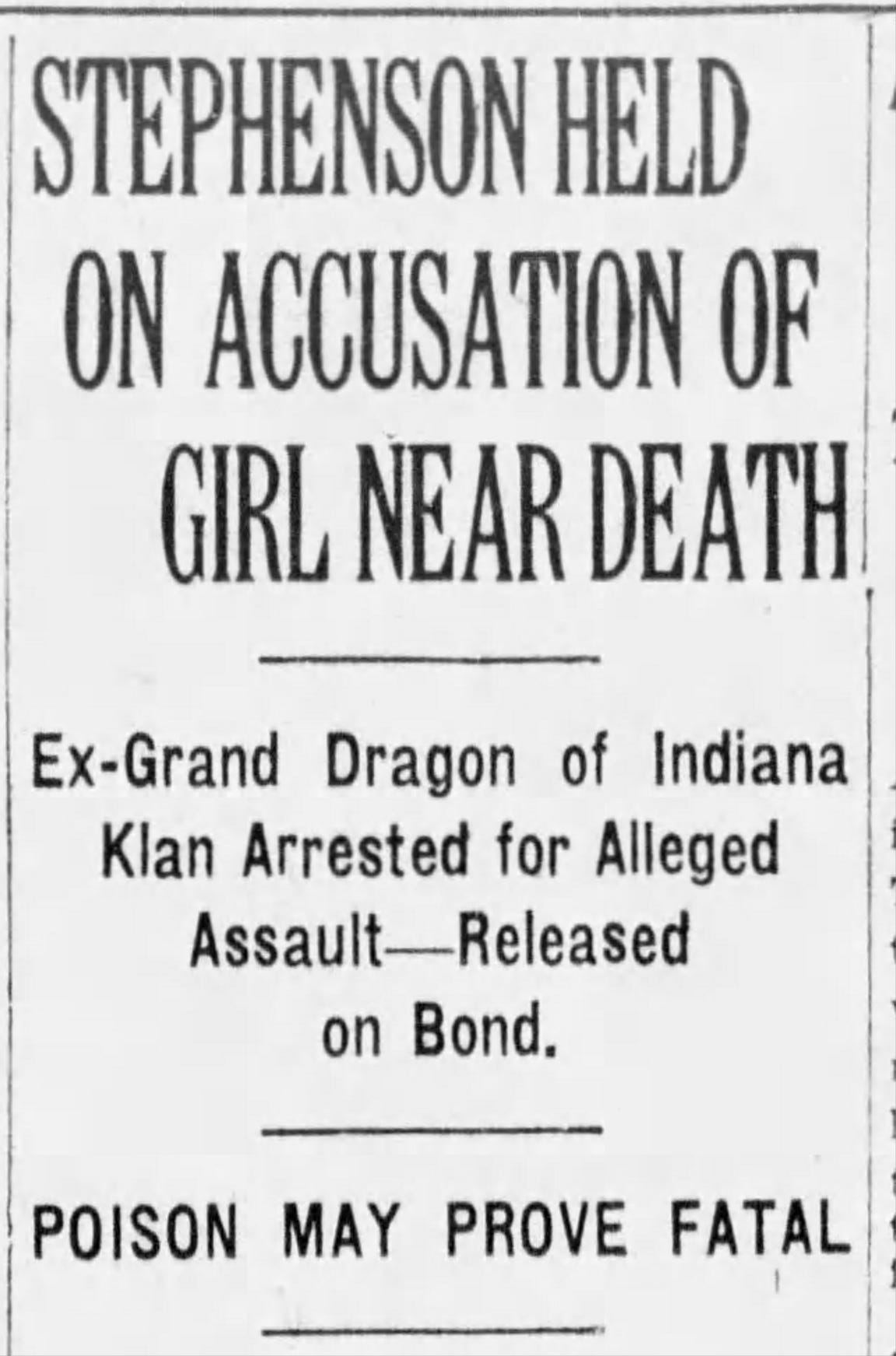 Indianapolis Star April 3, 1925 article