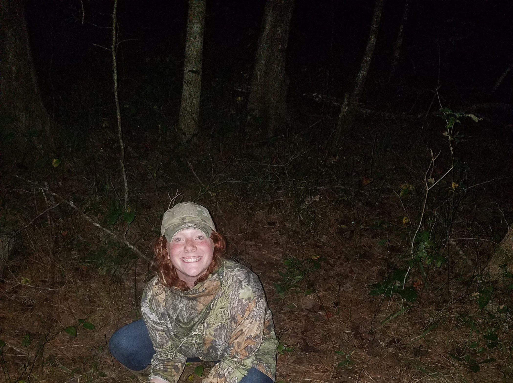 Rylee Brooke Langford, 14, of Amory, harvested a doe during the opening week of archery season. It was her first archery harvest and she shot it from a ground blind.