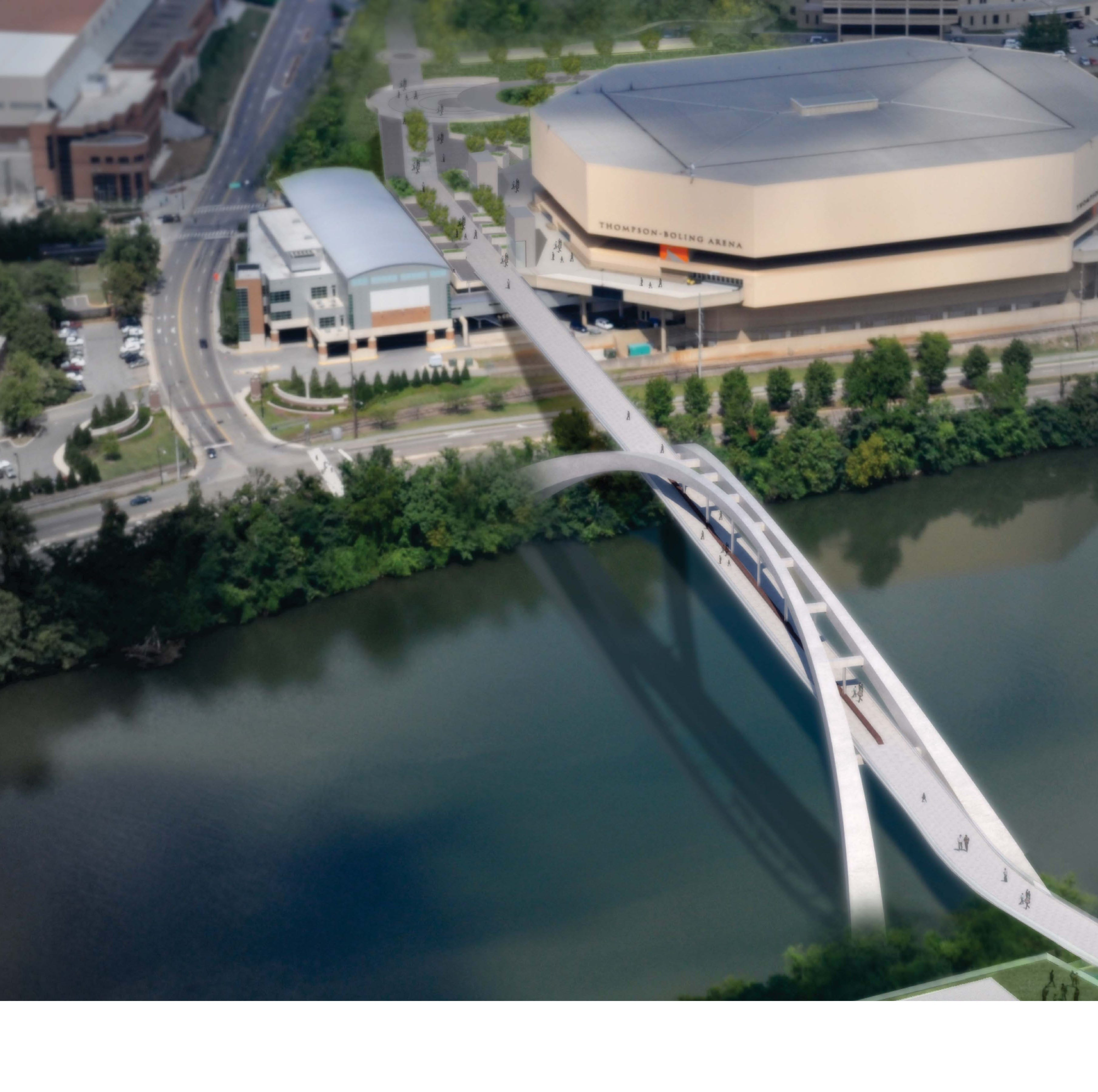 Fulmer's referenced pedestrian bridge spanning Tennessee River is long way off