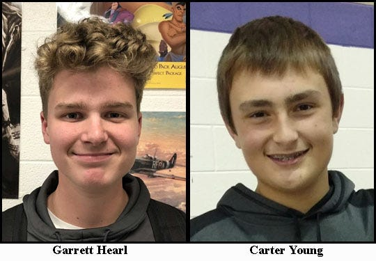 Fowlerville's doubles team of Garrett Hearl and Carter Young.