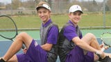 Caden Flanery and Christian Montrose of Fowlerville didn't begin playing tennis until high school.