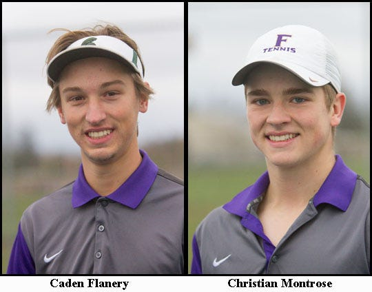 Fowlerville's doubles team of Caden Flanery and Christian Montrose.