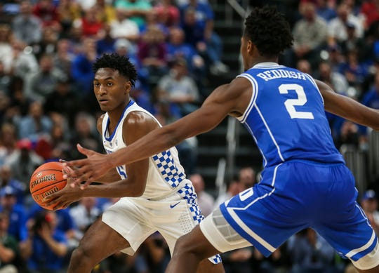 Kentucky's Immanuel Quickley had just six points against Duke but scored 15 against Southern Illinois.