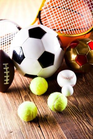 Various sports balls.