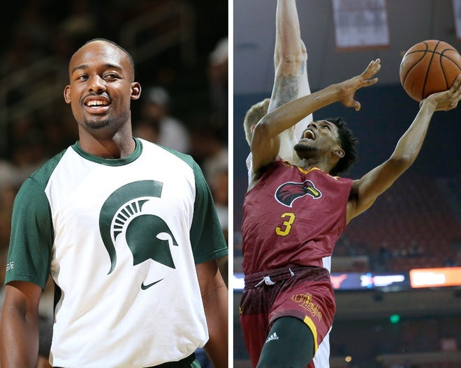 From left: Michigan State's Joshua Langford and Louisiana Monroe's JD Williams.