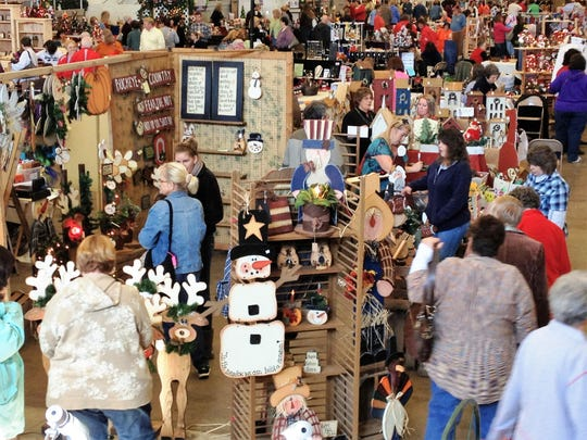 Veterans Memorial Coliseum hosts a craft show.