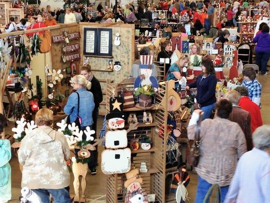 Veterans Memorial Coliseum hosts a craft show.