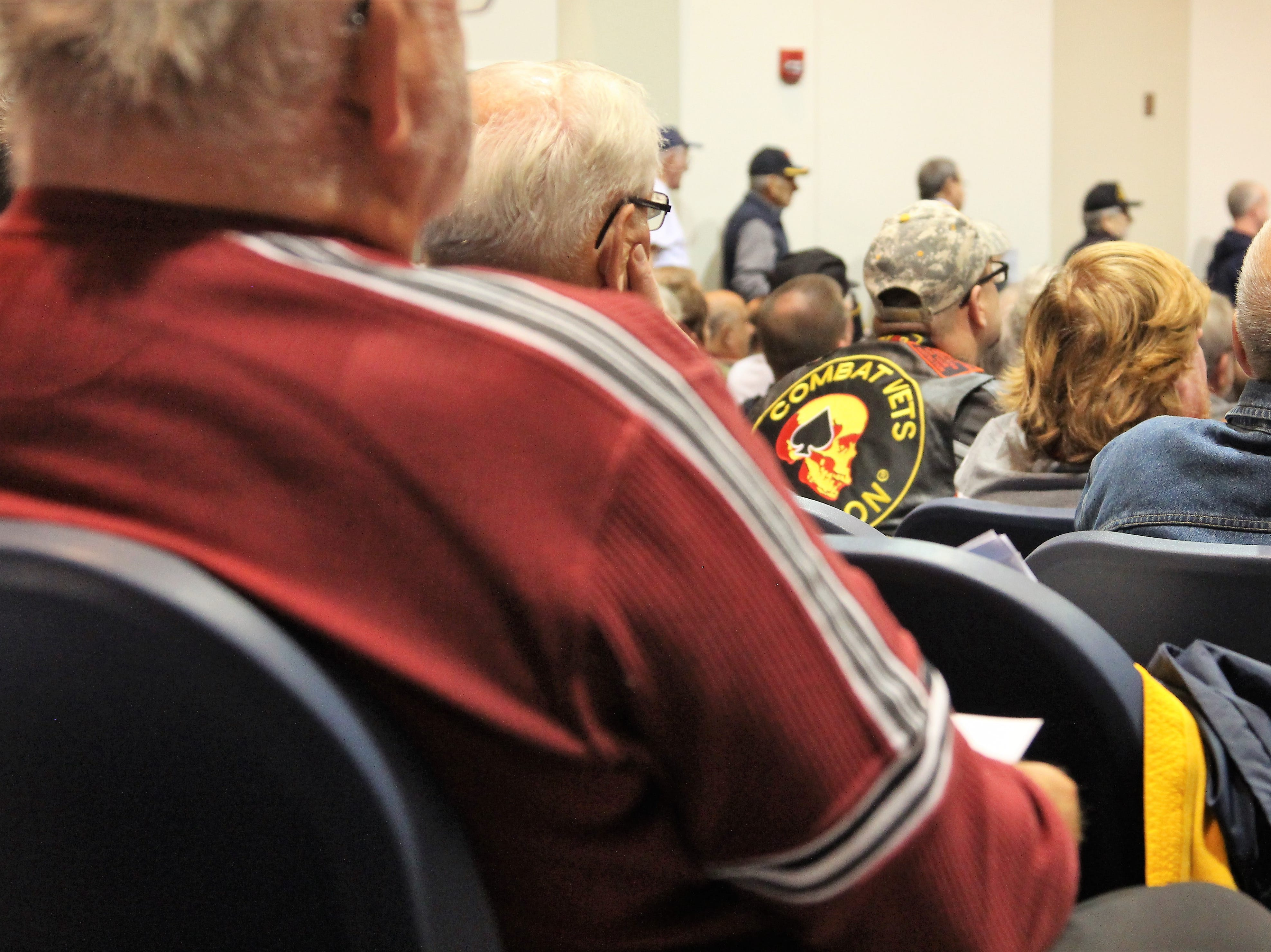 On Tuesday, students at River Valley High School honored Marion County veterans with medals and speeches following Veterans Day.
