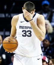Grizzlies center Marc Gasol has hit a slump during the team's recent skid, shooting at just 36.8percent clip this month.