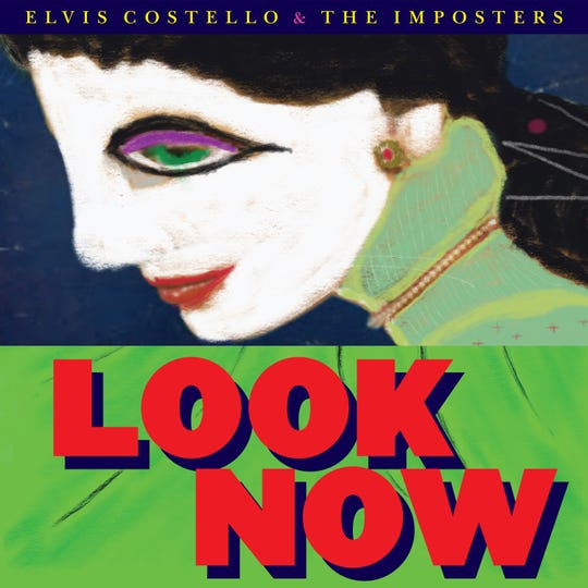 """Under the name """"Eamonn Singer,"""" Elvis Costello painted the artwork that appears on the cover of """"Look Now."""""""