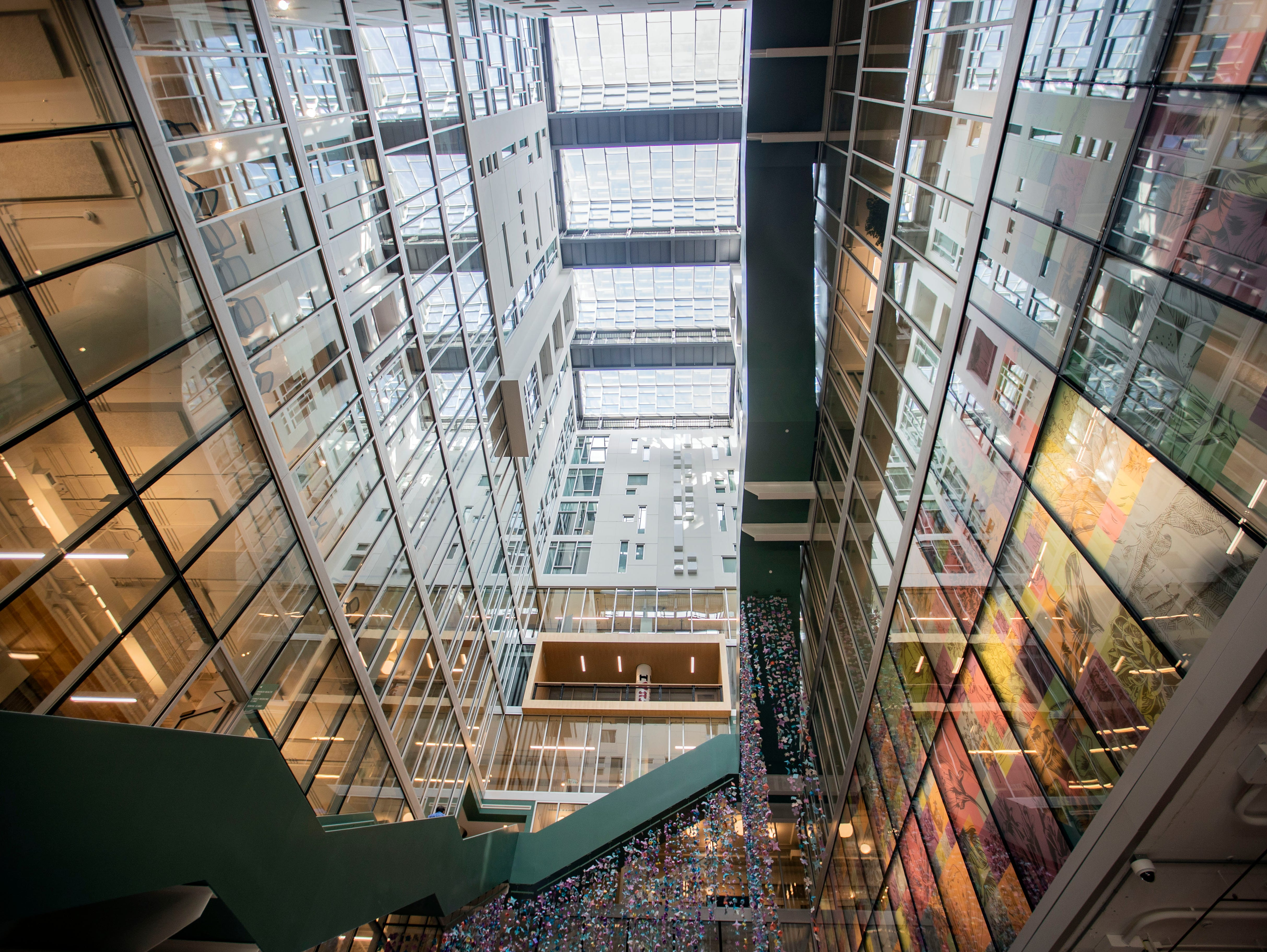 Crosstown Concourse is a 1.5million-square-foot mixed-use space that holds a high school, apartments, office spaces, retail stores, a pharmacy, coffee shop, art galleries and much more.