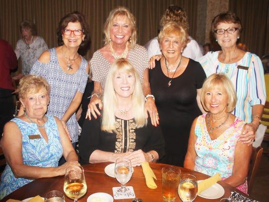 Above, seated: Sue Winje, Lynn Tuttle and Sue Stone; standing: JoAnn Brandau, Jan Cirillo, Pat Warrener and Doris Boston.