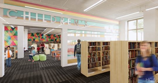 The $4.2 million renovation of the North Shore Library will allow for a larger children's area.