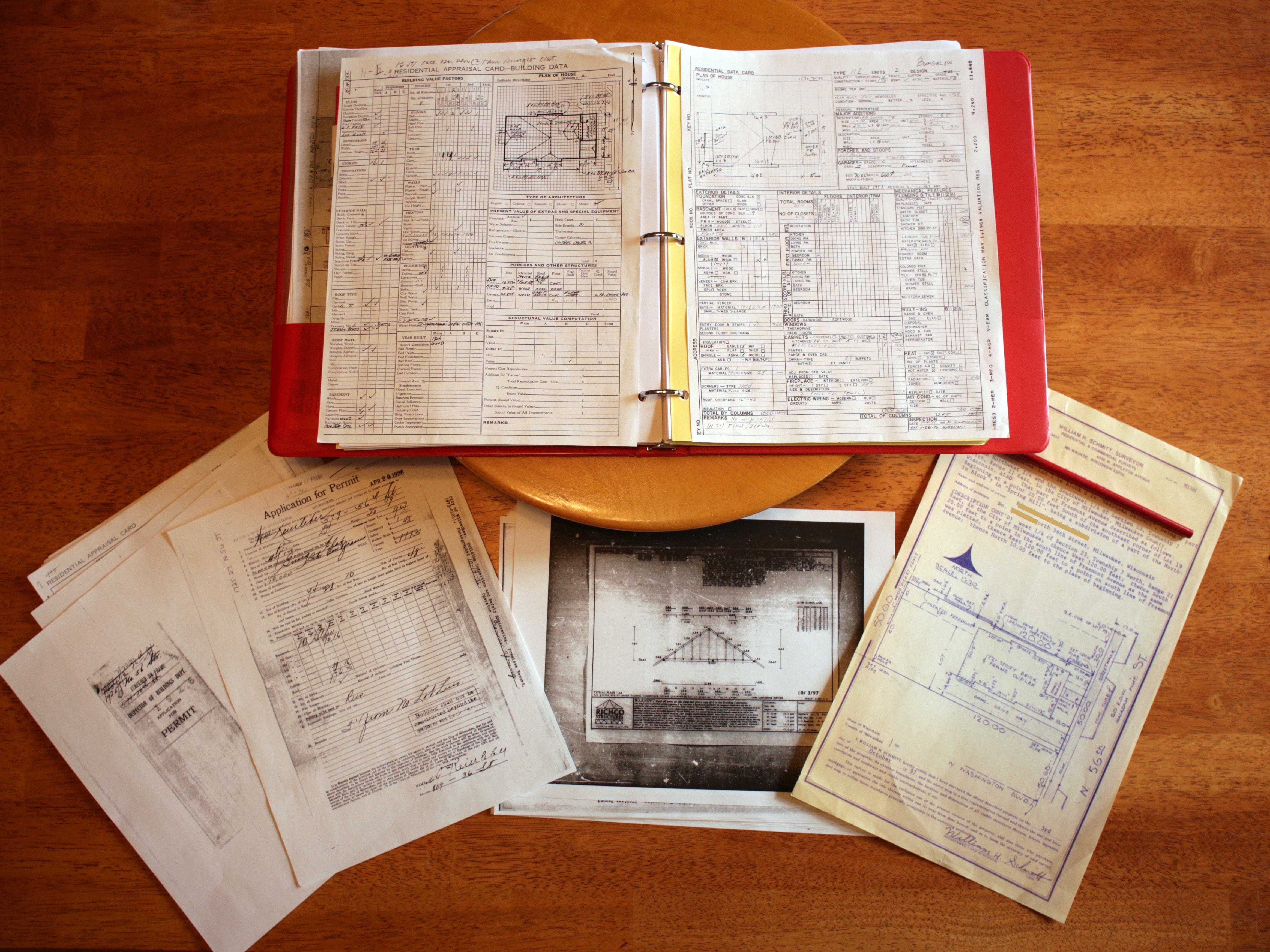 Appraisal records, building permits and plat of surveys are just some of the documents that can provide information about your house.