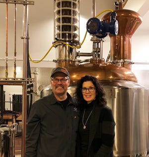 Curt and Linda Basina opened Copper Crow Distillery north of Bayfield.