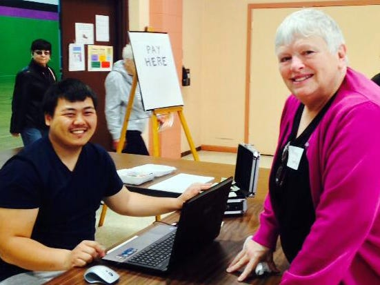 Nancy Torphy (right) teaches classes for Historic Milwaukee on how to research the history of your home.