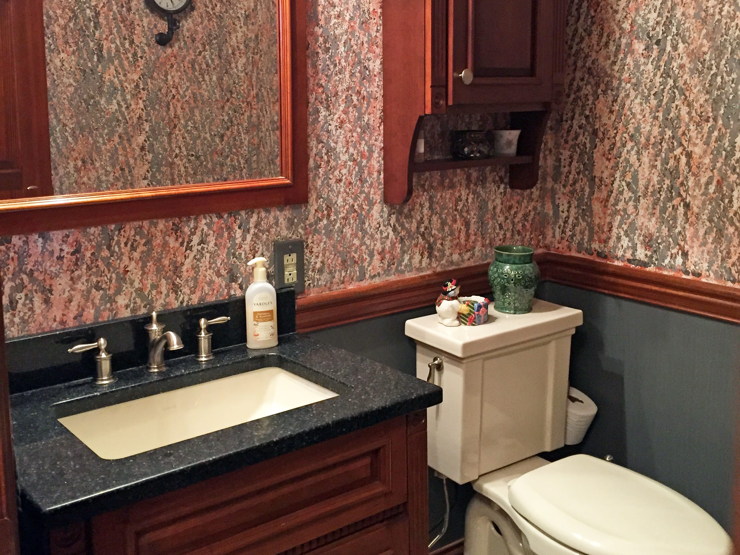The homeowners designed their own bathrooms and did all the tile work themselves.