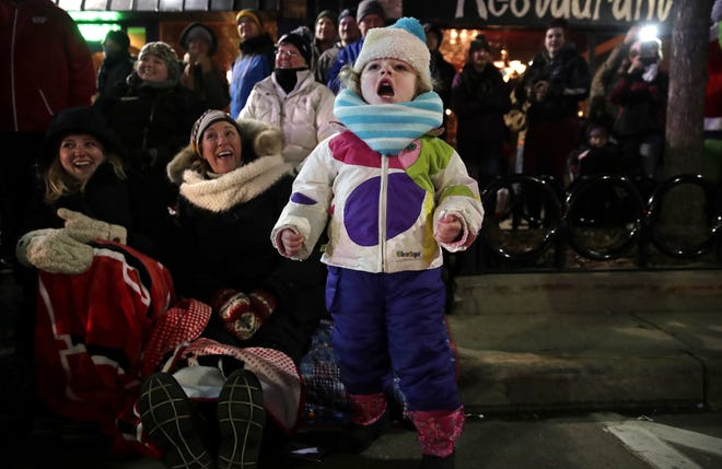Piper Shoemaker, 3, of Appleton, screams for Santa Claus during the Downtown Appleton Christmas Parade in 2017.