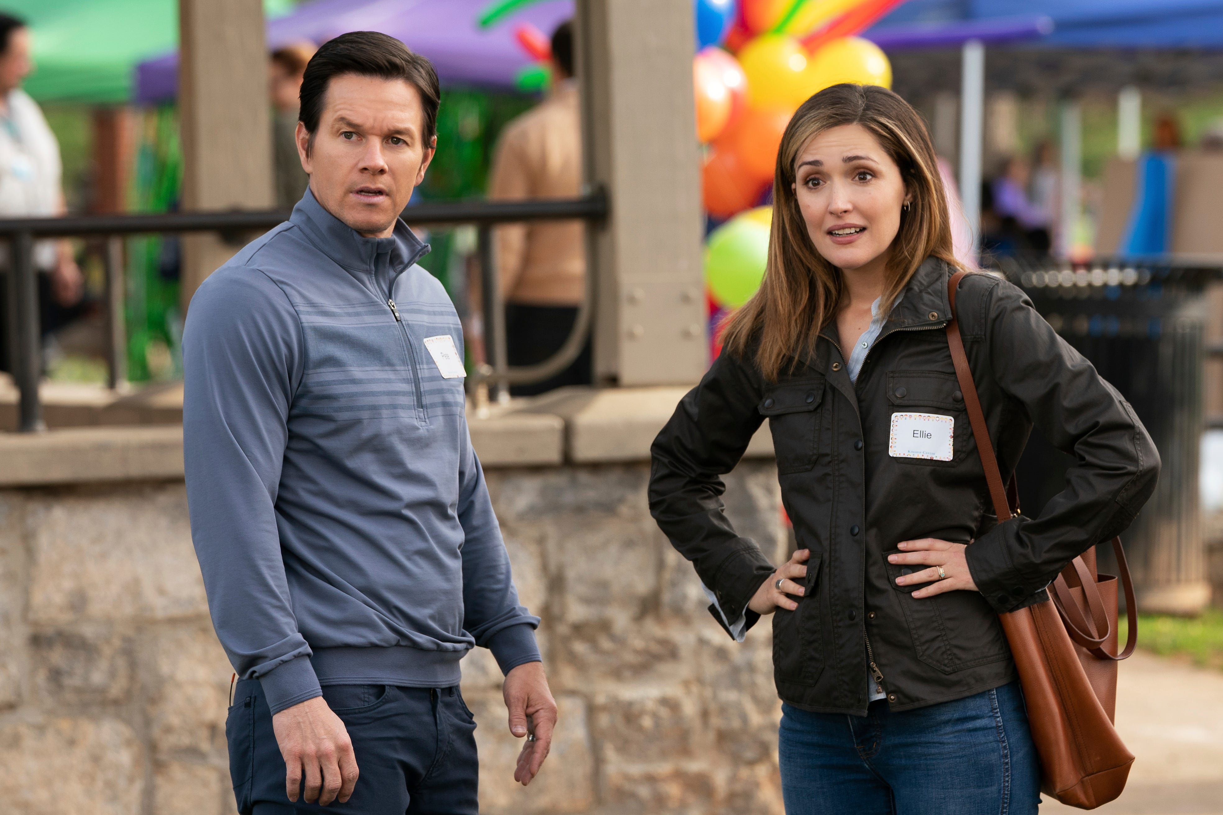 """Mark Wahlberg (left) and Rose Byrne play a couple who, looking into becoming foster parents, wind up in over their head when they decide to foster three siblings in """"Instant Family."""""""