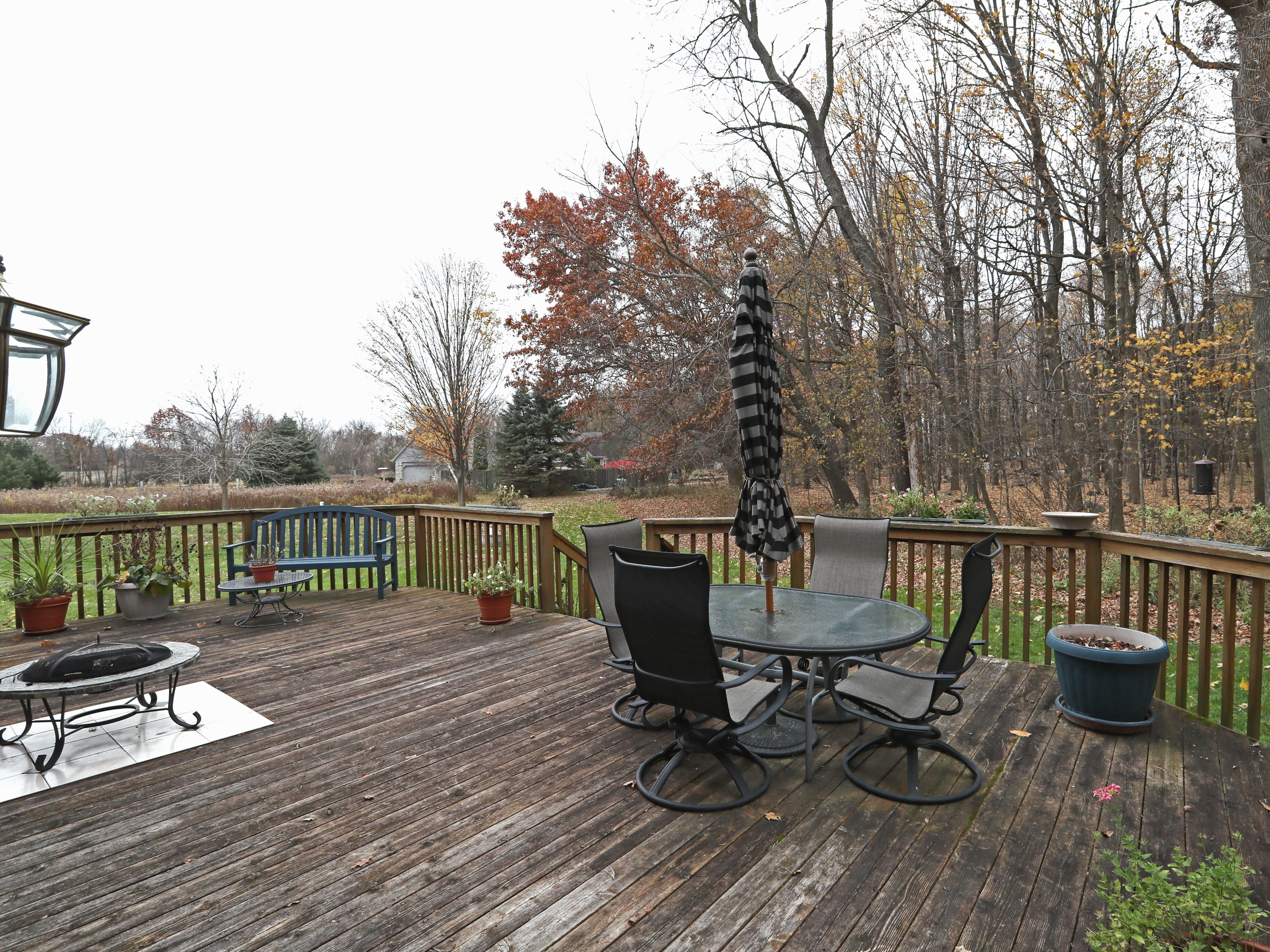 In summer the couple spends a lot of time on their deck at the rear of the house.