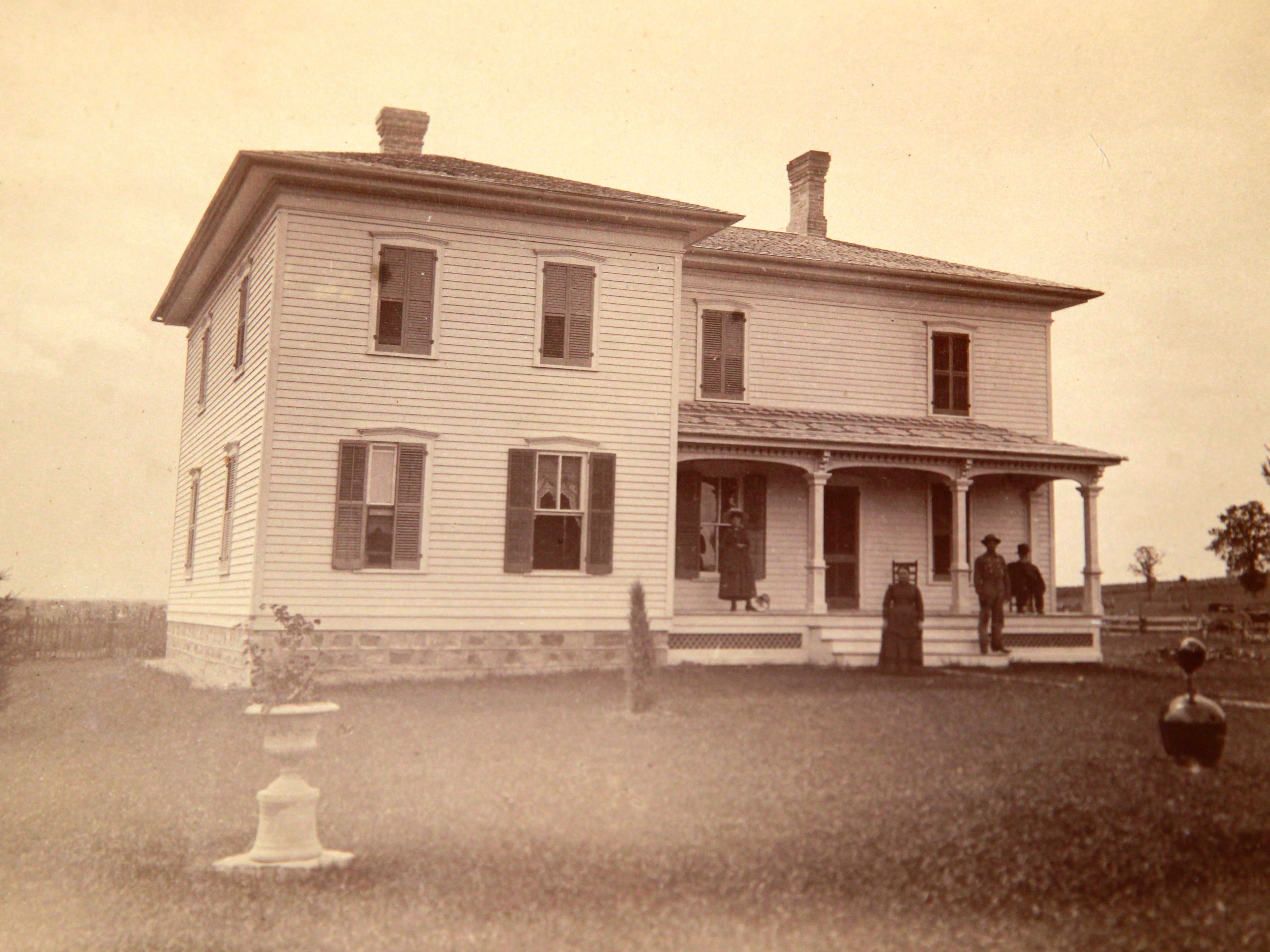 Betty and Lynn Ademan's home looked like this when it was built in 1881.