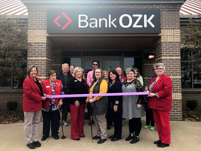 The Mountain Home Area Chamber of Commerce and Ambassadors recently held a ribbon cutting to celebrate the name change and reveal the new Bank OZK signage.Bank OZK has a new look, but still offers the same commitment to their customers. The new name reflects the banks rich history and their commitment to be a leader in technology and innovation as they expand across the United States.