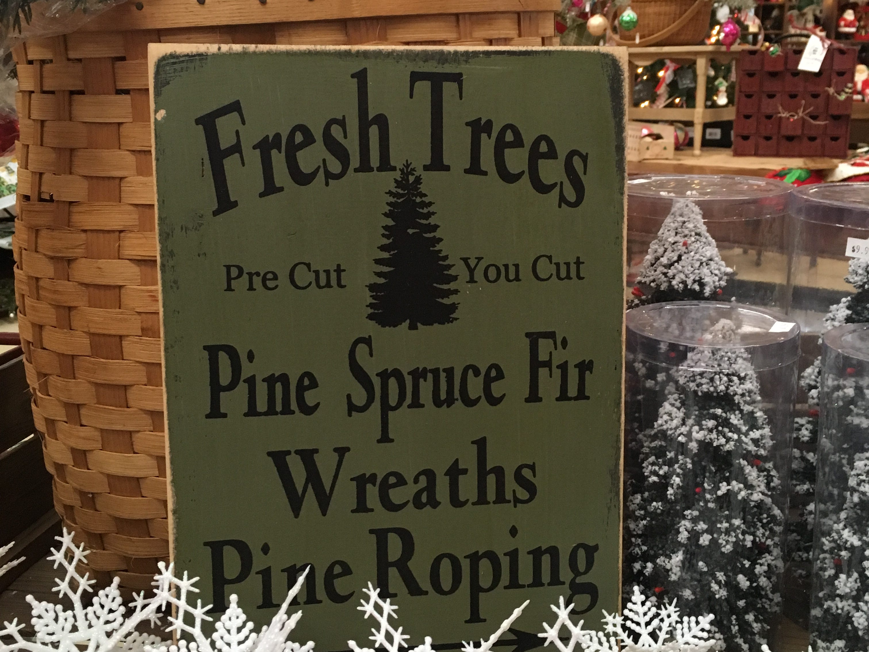 Keris Tree Farm & Christmas Shop, 848 Route 524 (Stone Tavern Rd.), Allentown. Keris Farm has more than 1,000 trees of Blue Spruce, Norway Spruce, White Pine, Douglas Fir and Concolor Fir. They are also well-known for their Christmas tree shop and its wide array of holiday ornaments and decorations.