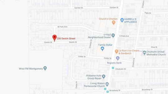 A man reported that he was shot during a robbery in the 200 block of Destin Street