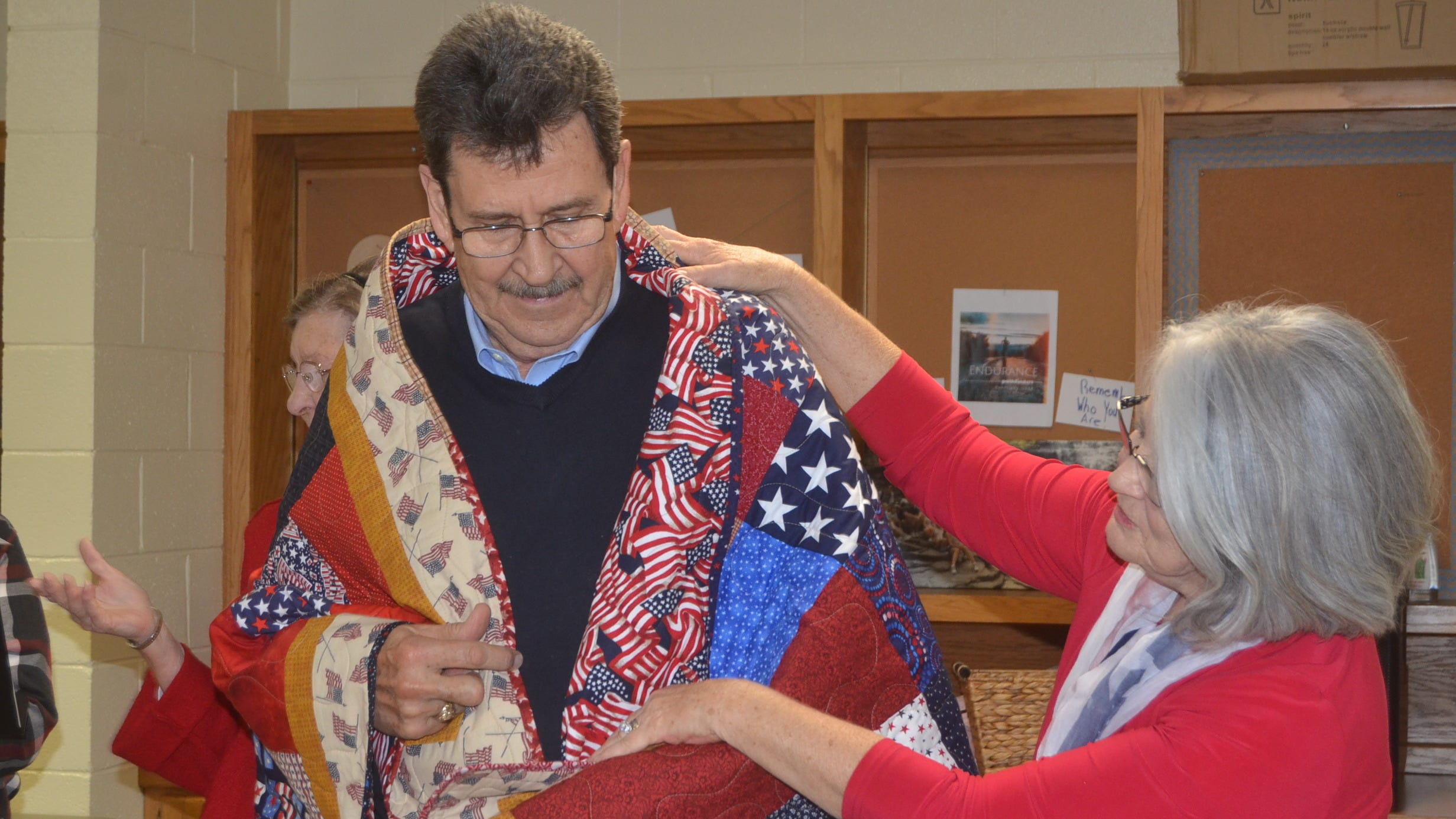 Veterans feel comfort wrapped in Quilts of Valor made by Hendersonville quilters group