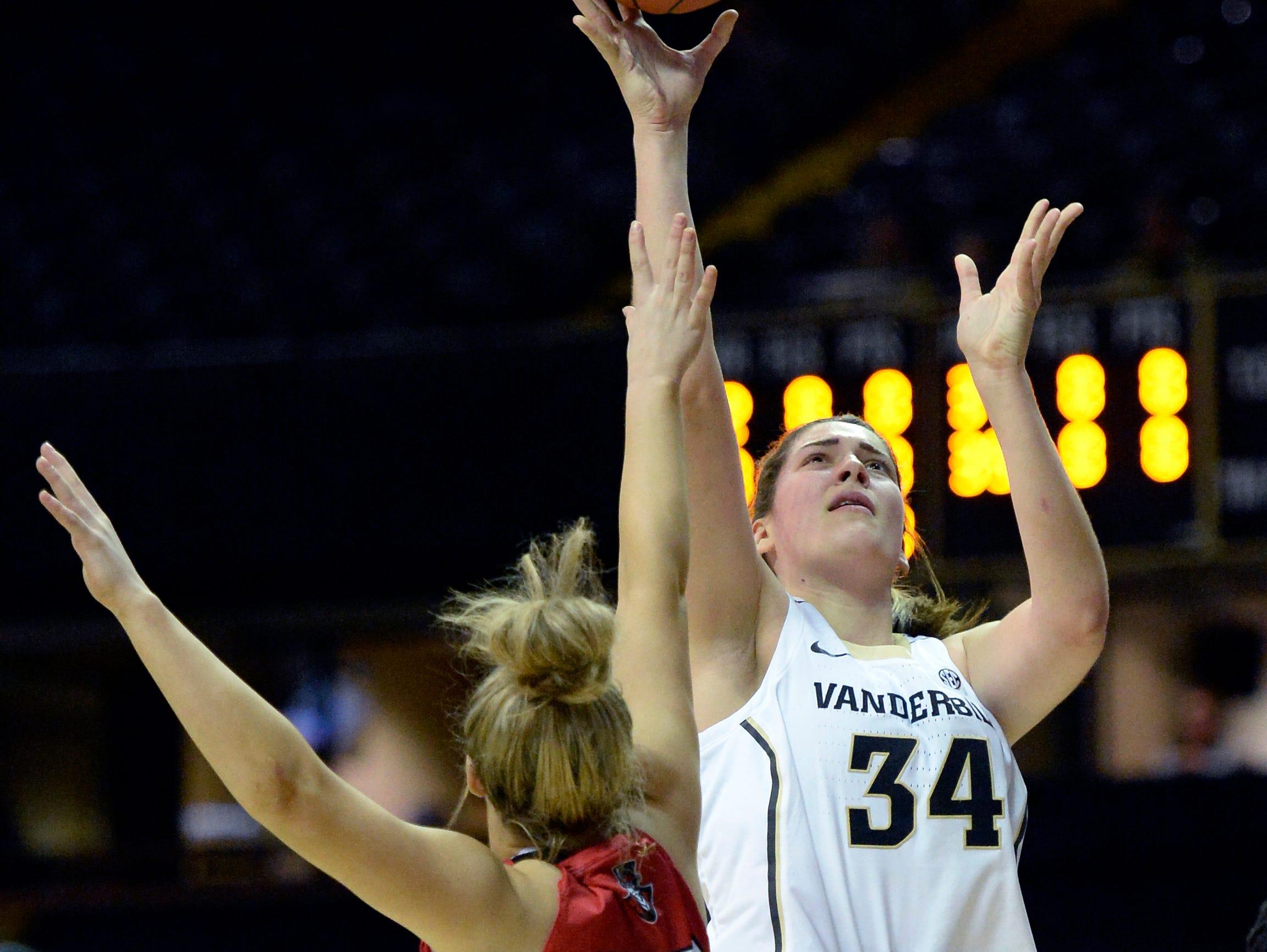 Vanderbilt women's basketball: Mariella Fasoula's 25 points earns win over Austin Peay