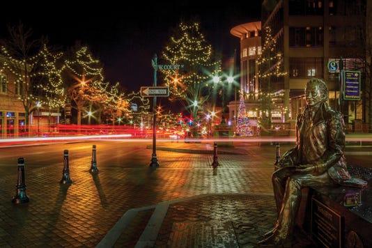 Poinsett Statue And Main Street