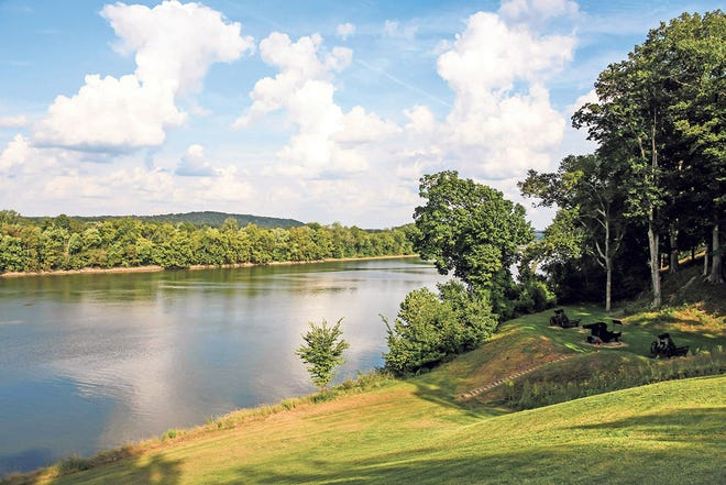 A view of the historic Cumberland River at Fort Donelson near Dover, Tenn. The Union capture of the Confederate fort near the Tennessee/Kentucky border opened the Cumberland River, an important avenue for the invasion of the South.