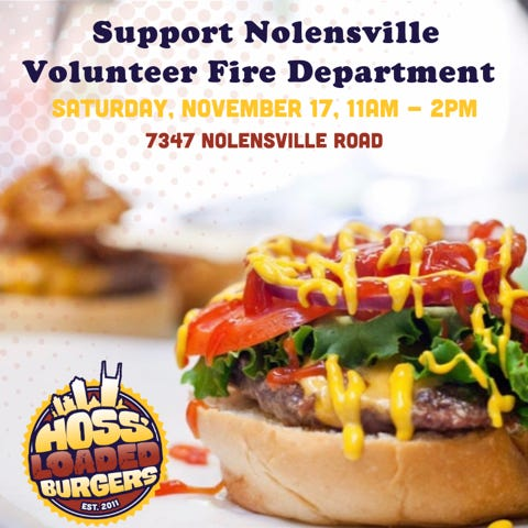 This is the flier for the Nolensville Volunteer Fire Department fundraiser.